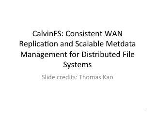 利用分布式操作系统进行一致的WAN复制和m...