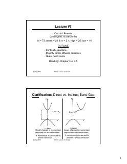 连续介质方程,少数载流子扩散方和费米能级