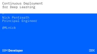 Continuous Deployment for Deep Learning
