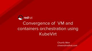Convergence of Virtual Machines and Container...