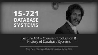 Course Introduction and History of Database S...