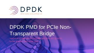 DK PMD for PCle Non-Transparent Bridge