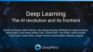 DeepMind深度学习及前沿进展