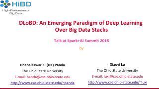 DLoBD:深度学习大数据的新兴范例