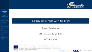 DPDK Unikernel with Unikraft