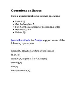 02Data Structures--Operations on Arrays