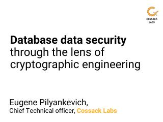 Database data security