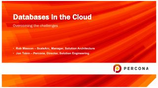 Database in the cloud
