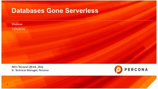 Databases gone serverless