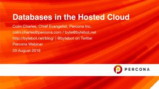 Databases in the Hosted Cloud