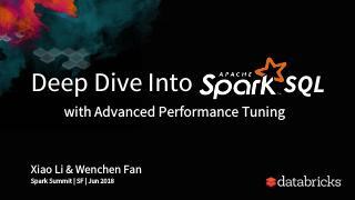 深入研究Spark SQL高级性能调整