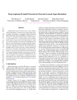 Deep Laplacian Pyramid Networks for Fast and ...