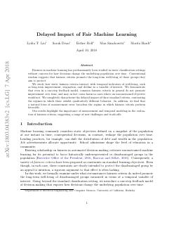 Delayed Impact of Fair Machine Learning