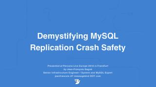 Demystifying MySQL Replication Crash Safety