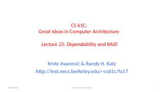可靠性和RAID