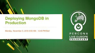 Deploying MongoDB in Production
