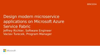 Design modern microservice applications on Mi...