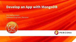Develop an App with MongoDB