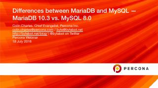 Differences between MariaDB and MySQL