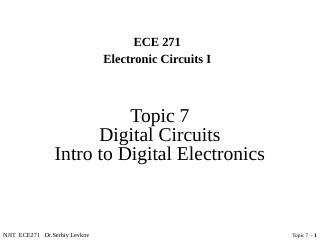 用数字电路介绍数字电子学