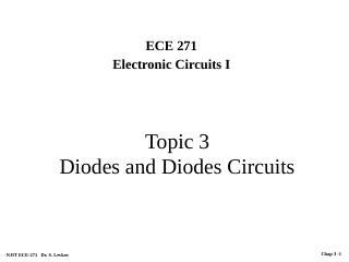 二极管和二极管电路