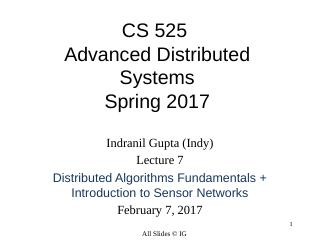 Distributed Algorithms Fundamentals + Introdu...