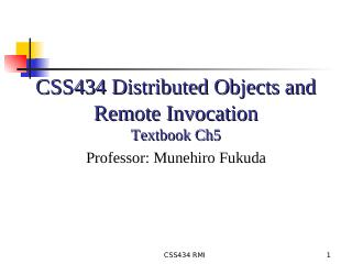 06-Distributed Objects and Remote Invocation