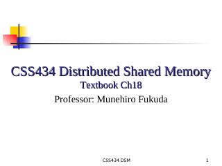 10--Distributed Shared Memory