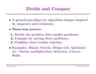 算法设计范例