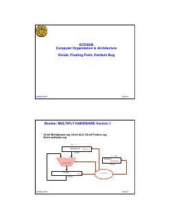 Divide, Floating Point, Pentium Bug