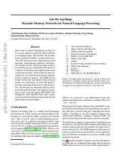Dynamic Memory Networks for Natural Language ...