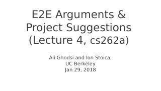 E2E Arguments