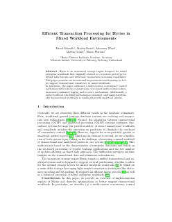 Efficient Transaction Processing for Hyrise