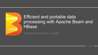 使用Apache Beam和HBase进行...