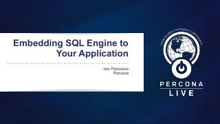 Embedding SQL Engine to Your Application