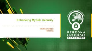 Enhancing MySQL security
