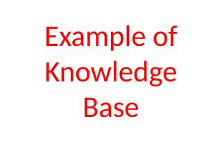 019-Example of Knowledge Base