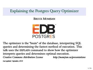Explaining the Postgres Query Optimizer