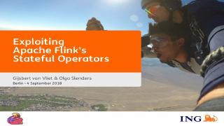 Exploiting Apache Flink's Stateful Operators