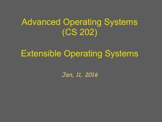 可扩展操作系统