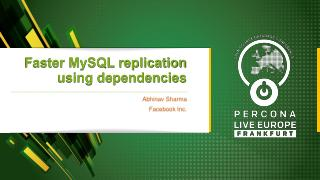 Faster MySQL replication using dependencies