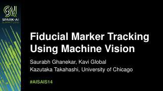 基于机器视觉的基准标记跟踪