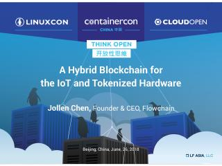 A Hybrid Blockchain for the IoT and Tokenized...