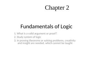 016-Fundamentals of Logic