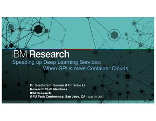 Speeding up deep learning service on cloud wi...