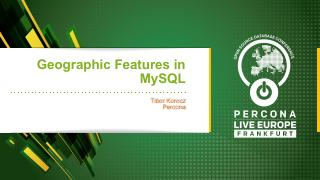 Geographic Features in MySQL