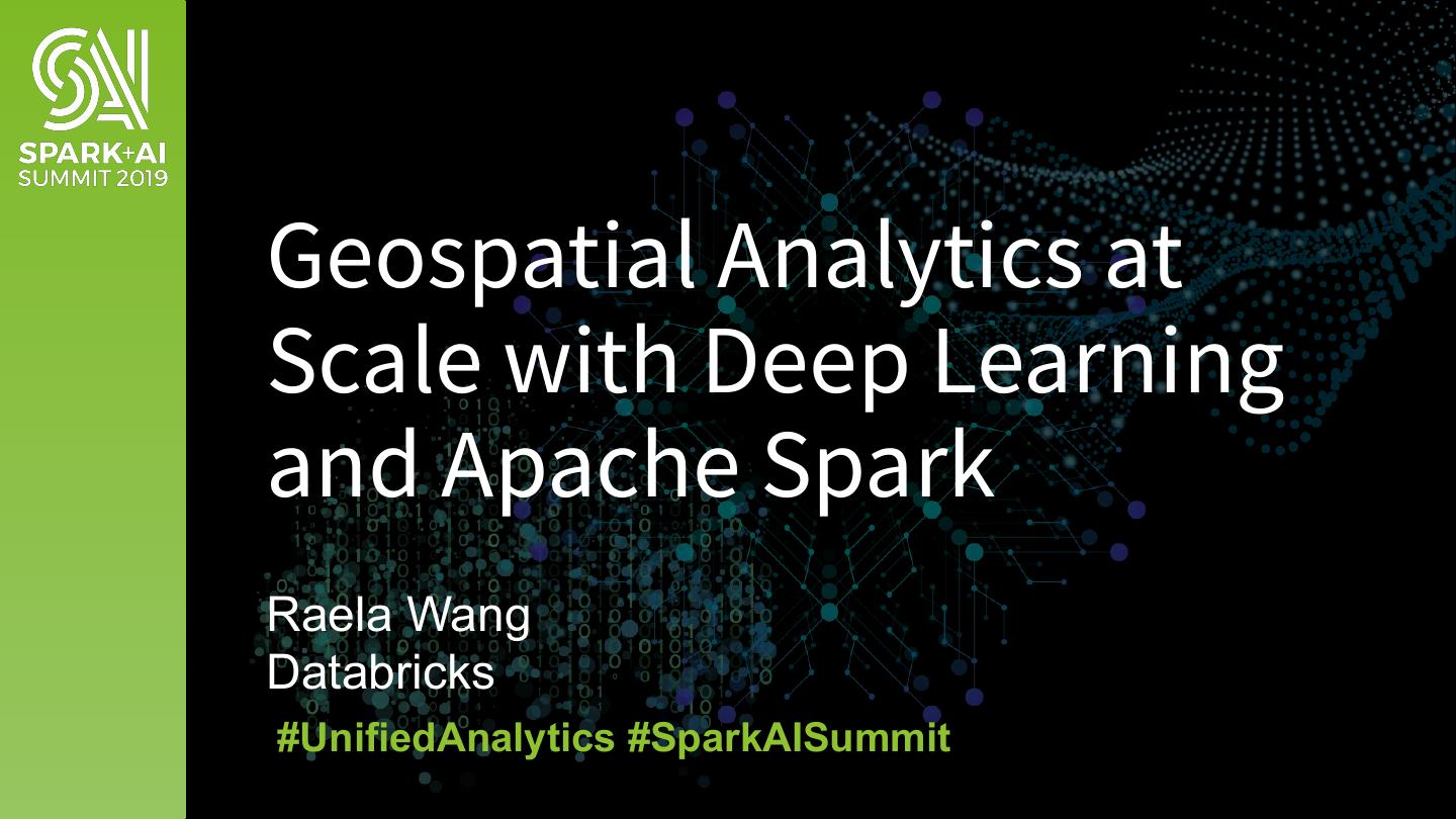Geospatial Analytics at Scale with Deep Learning and Apache