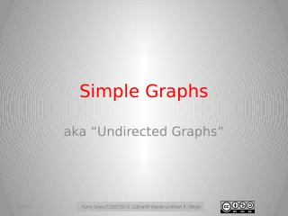 Simple Graphs
