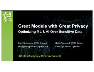 Great Models with Great Privacy: Optimizing M...
