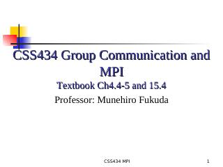 05-Group Communication and MPI
